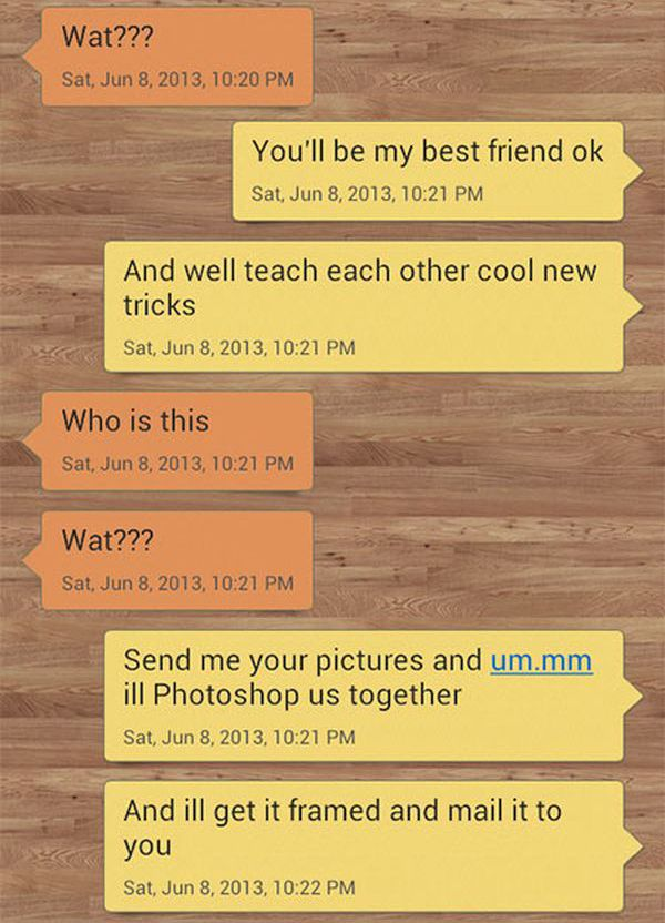 A Wrong Number Texting Troll That's Top Class