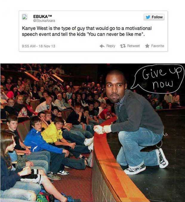 Pics That Describe Kanye West Perfectly