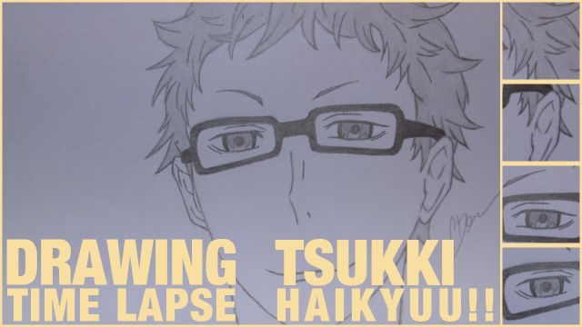 "Drawing Time Lapse: Kei ""Tsukki"" Tsukishima (Haikyuu!!)"