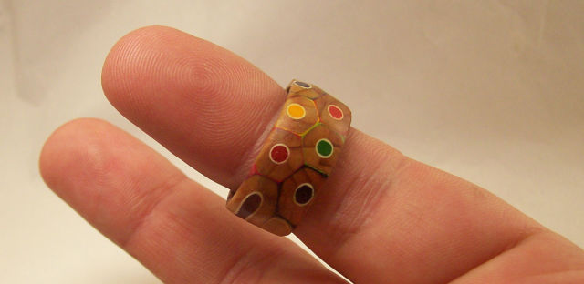 A Fun Homemade Coloured Pencil Ring