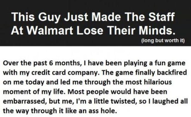 Dude Trolls the Walmart Staff in Epic Prank