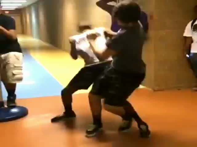 Epic Reverse 360 Slap in School
