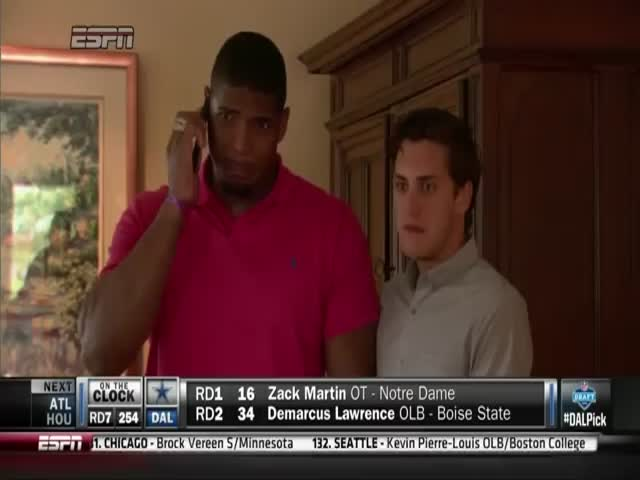 Michael Sam's Emotional Reaction to Learning He Got Drafted  (VIDEO)
