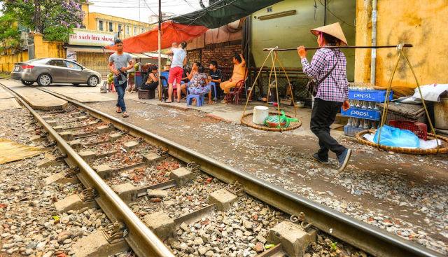 A Railway Line That Runs Right Through the Town