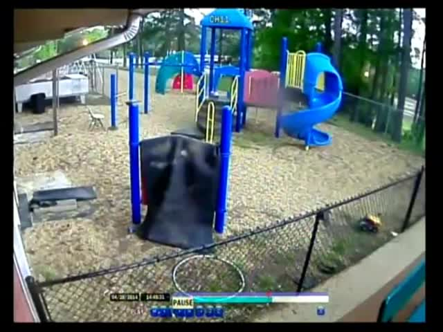 Terrifying Footage of a Tornado Destroying a Children's Playground  (VIDEO)