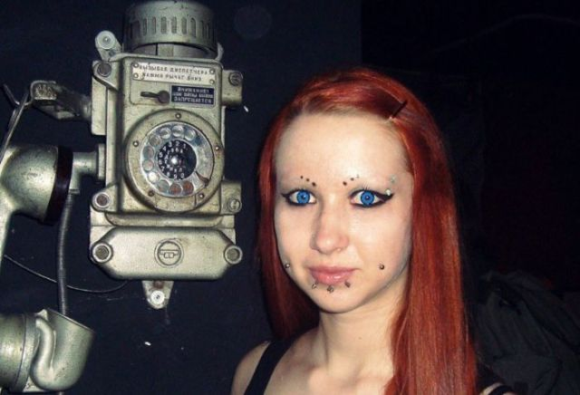 One Girl's Radical Body Modifications Before and After Pics