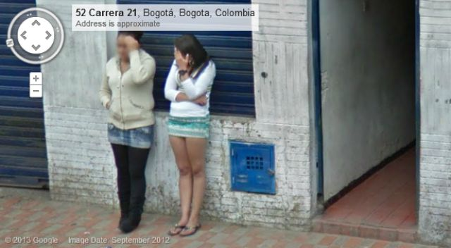 Google Maps Captures Prostitutes on the Streets