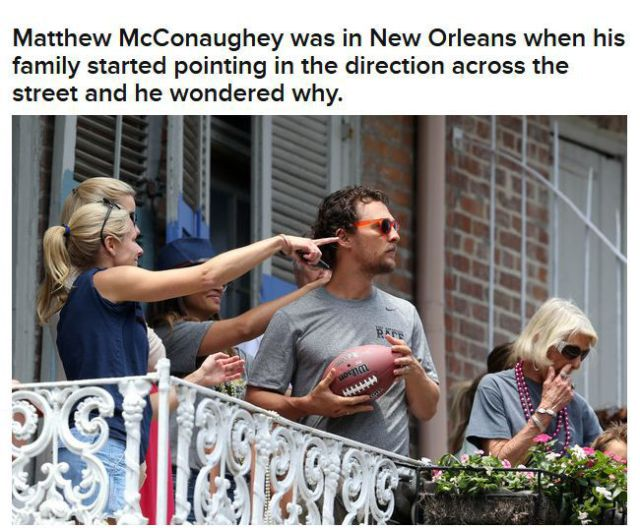 Brad Pitt Shares a Beer with Matthew  McConaughey