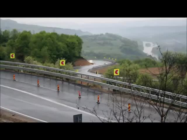Drifting a Toyota Supra on a Wet Road