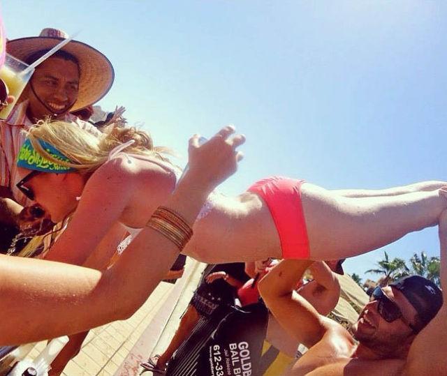 College Girls Kicking Ass at Kegstands