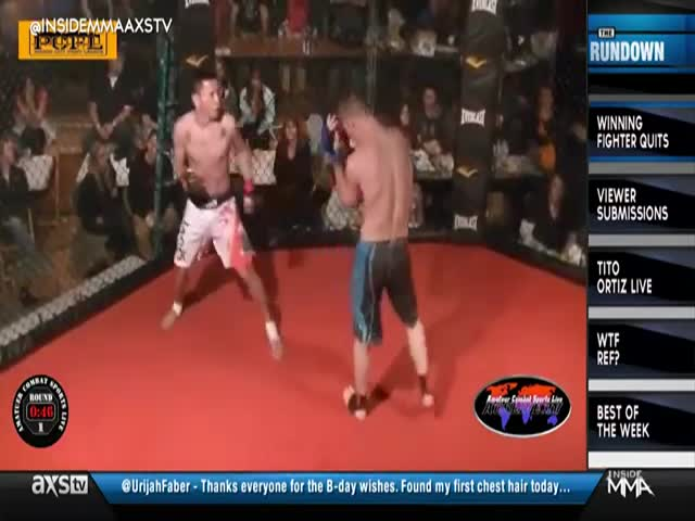 MMA Fighter Wins but Gives Up  (VIDEO)
