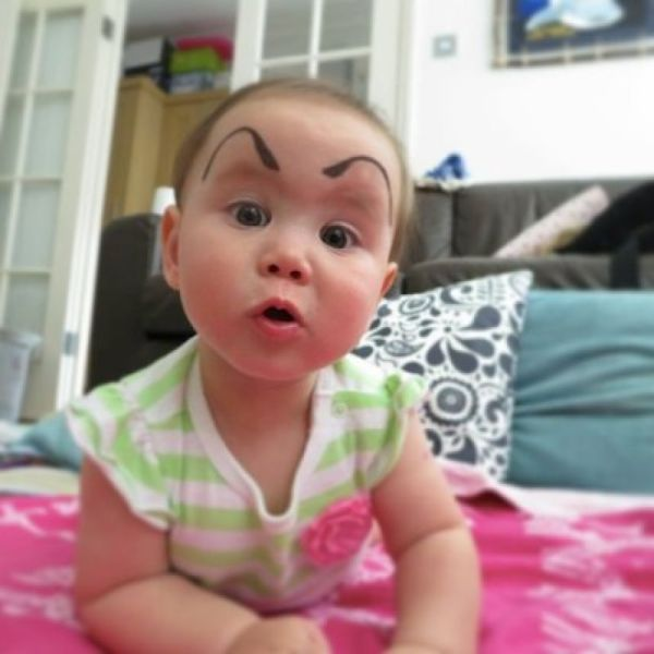 babies with painted eyebrows is trending online 39 pics izismile com