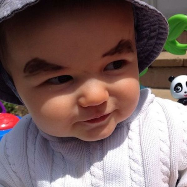 babies with eyebrows MEMEs