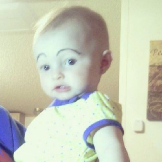 Babies with Painted Eyebrows Is Trending Online