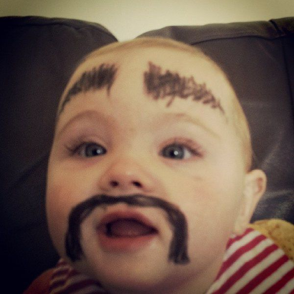 Babies with painted eyebrows is trending online 39 pics izismile 38 babies with painted eyebrows is trending online voltagebd Image collections