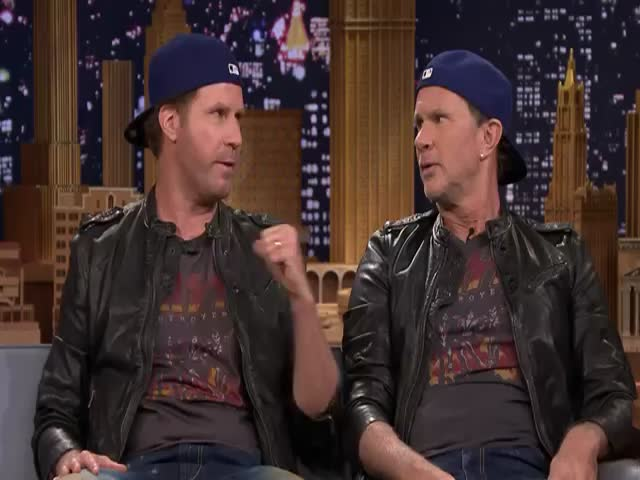 Will Ferrell and Chad Smith Have an Epic Drum Off