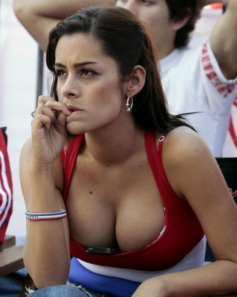 Hot Girls Spotted In The  World Cup Stands