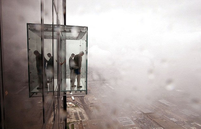A Glass Viewing Platform Is Scary Enough without This Happening…