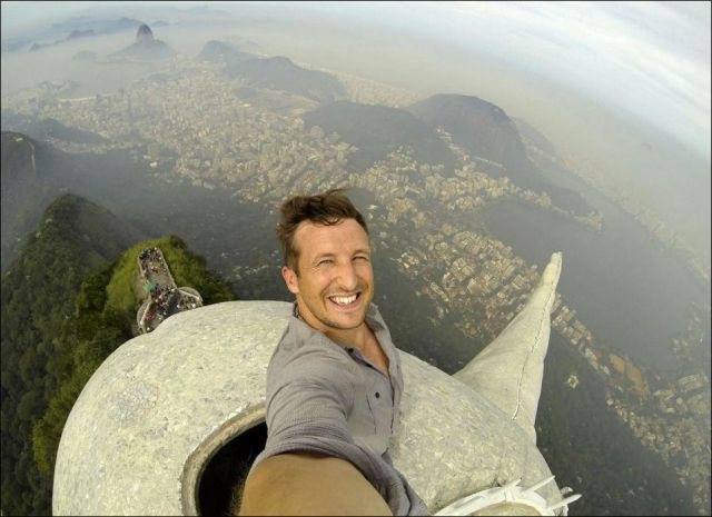 The Man Who Climbed the Statue of Christ in Brazil
