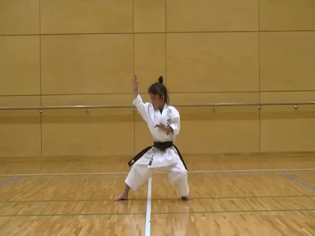 Impressive 7-Year-Old Girl with a Black Belt