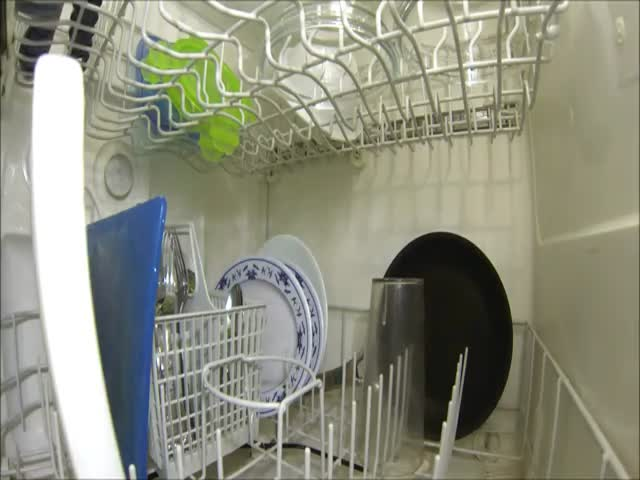 Meanwhile, Inside Your Dishwasher...  (VIDEO)