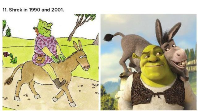 Cartoon Characters When They First Came Out vs. Today