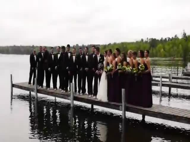 Wedding Photoshoot Goes as You'd Expect  (VIDEO)