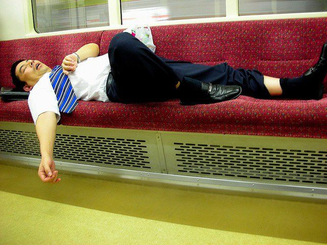Japanese Businessmen Passed Drunk in Public