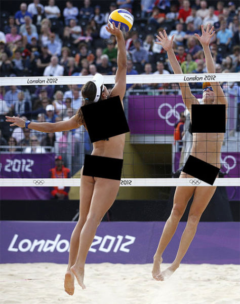 Censored Pics of Beach Volleyball Action Shots