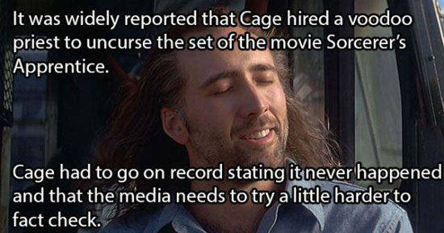 Surprising and Shocking Nicholas Cage Trivia