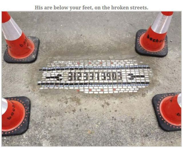 An Arty Fix for Pesky Potholes