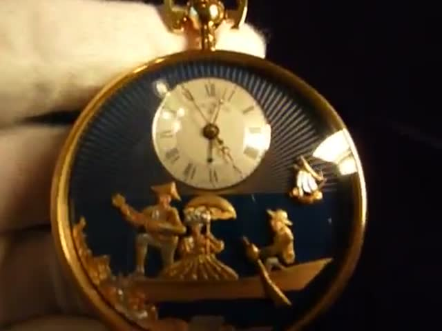 A Reuge Erotic Musical Pocket Watch from the 19th Century