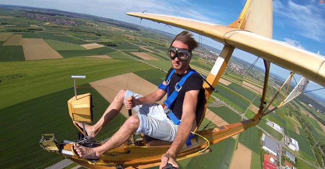 Flying a 1938 Nazi Primary Glider Looks Awesome