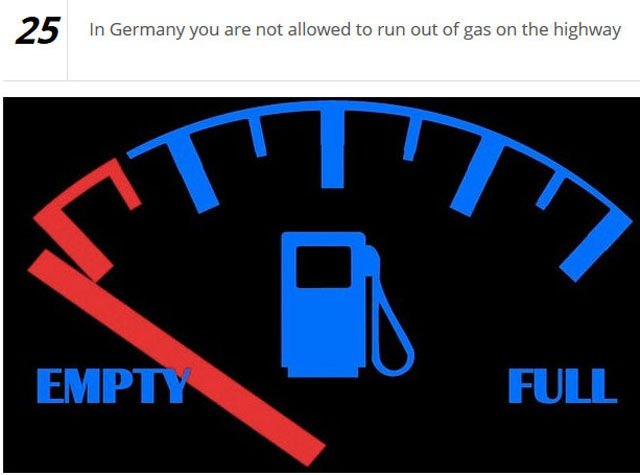 Senseless Driving Laws Worldwide