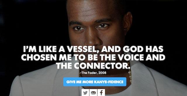 Kanye West Doesn't Mind Rating Himself
