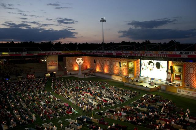 Berlin Stadium Transformed into Giant Comfy Movie Theatre