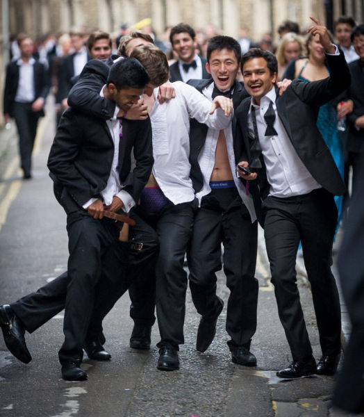 Cambridge University Students Party Hard as Vacation Starts
