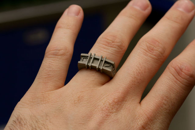 A Custom Homemade Wedding Ring That's Very Unique