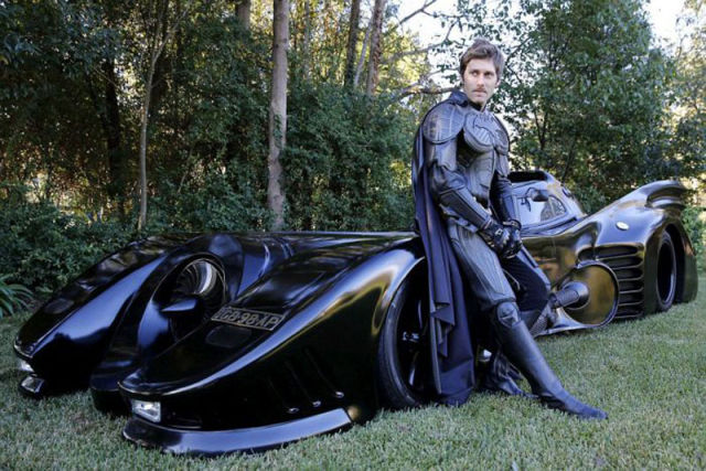 Batman Fanatic Builds His Own Working Batmobile