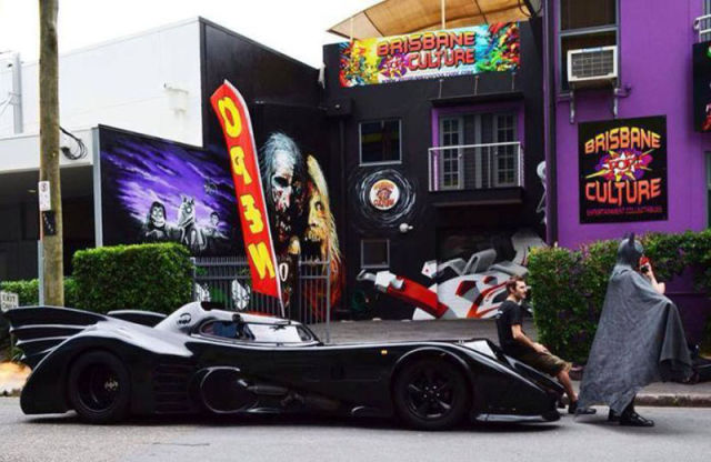Batman Fanatic Builds His Own Working Batmobile