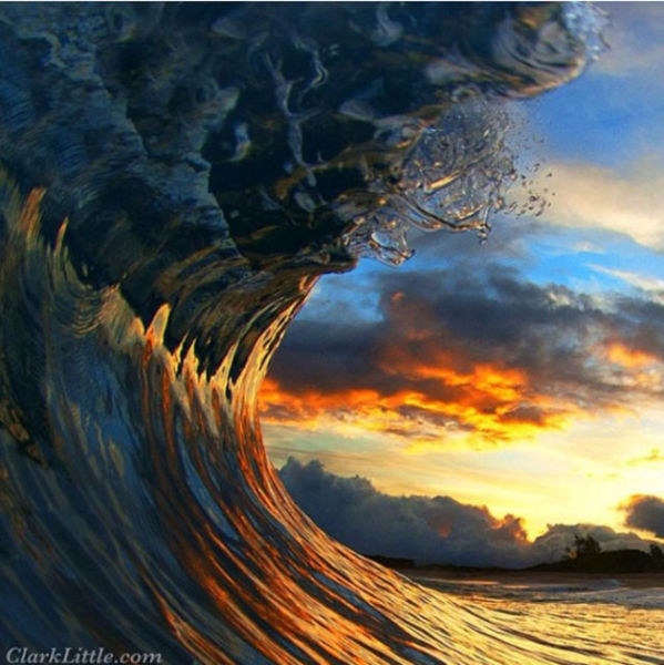 Spectacular Photos Taken inside Gigantic Waves