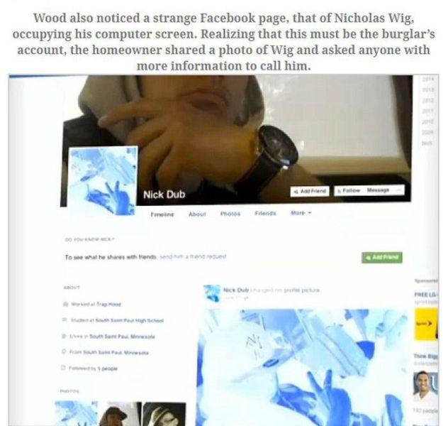Epic Burglary Meets Facebook Fail