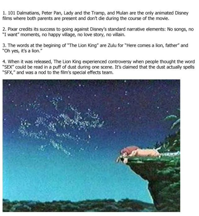 Interesting Things You Won't Know about Disney and Pixar Movies
