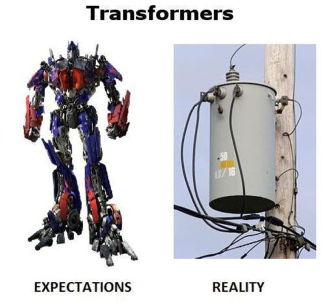 What You Hope It Will Be Like vs. How It Really Is