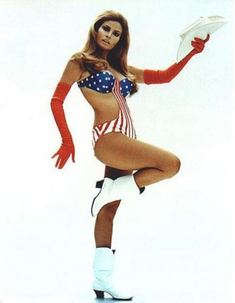 Sexy Ladies Help Us Celebrate the Fourth of July Wearing the American Flag