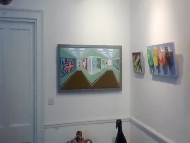 A Painting That Changes Right Before Your Eyes  (VIDEO)