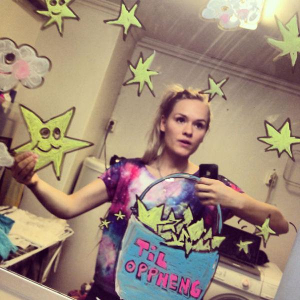 Bathroom Selfies with an Artistic Twist