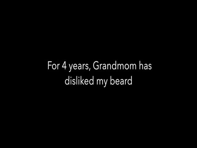 Grandson Shaves His Beard for Grandma's 100th Birthday  (VIDEO)