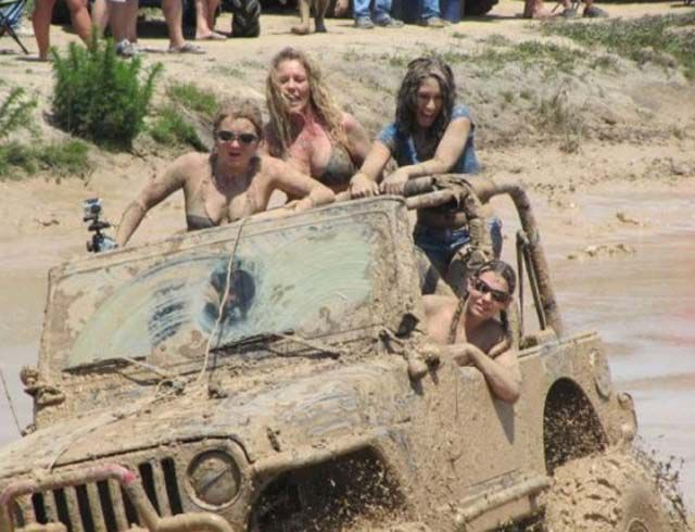 Cute Girls Get a Little Dirty with Jeeps