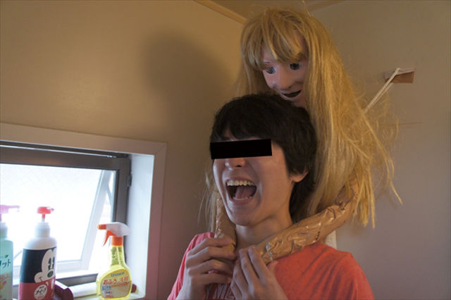 A Teenager Makes His Own Girlfriend to Shower with